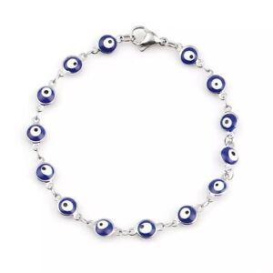 Blue Evil Eye Bracelet Lucky Turkish Charm Chain Gold/Silver