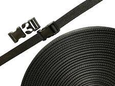 "YKK Straps buckles kit 3/4"" Plastic Buckle Side-Release Single Adjuster -Webbing"