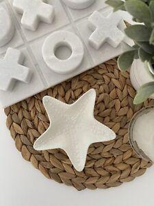 Trinket tray Starfish White Beach Coastal Hamptons Ceramic