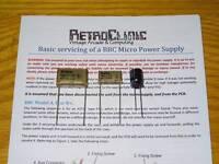 ACORN BBC MICRO & MASTER - HIGH QUALITY POWER SUPPLY CAP KIT