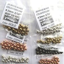 "175) 5/32"" & 3/16"" BRASS BEAD FLY TYING ASSORTMENT large & XL for hook sizes 6-4"