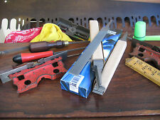 """LOT TWO (2) TOME' FETEIRA 8"""" ROUND EDGE 2ND CUT CROSSCUT/ BLUNT SAW - MILL FILES"""