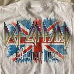 Def Leppard Euphoria Tour 1999 White Tour T-Shirt XL