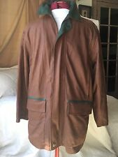 NWT Mens Raffaello Leather Long Parka Spice Brown Size 48 LUXE Rare!!!!