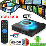 2GB+16GB/4GB+32/64GB Android 10.0 TV Box Quad Core HD 6K HDMI WIFI Media Player