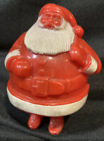 """Vintage Hard Plastic 4"""" Santa Claus Candy Holder Christmas Missing Pieces"""