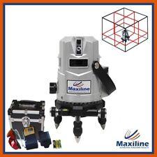 Maxiline 4V4H Self Leveling Cross Line Laser Level w Detector 360 degree level