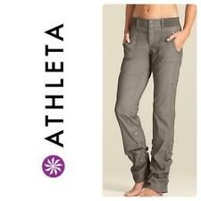 womens olive green ATHLETA shasta convertible MODERN athletic pants stretch S 6