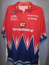 Impact Crew Gear NASCAR Service Central Racing 1/4 zip polo shirt XL (fits big)