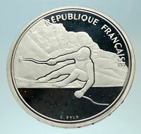1989 FRANCE Alpine Skiing 1992 Olympics Proof Silver 100 Francs Coin i76878