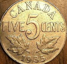 1935 CANADA KING GEORGE V 5 CENTS COIN - KM #29