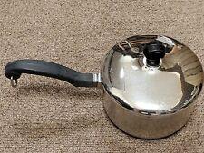 Farberware Stainless Steel Aluminum Clad Bottom 1 Qt Saucepan Pot & Lid