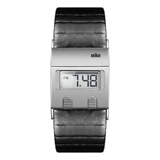 Braun Herren BN0076 Digitaluhr mit Lederband, SLBKG, 66522, Neu+OVP