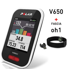 Polar V650 Bike Computer GPS Integrato + Sensore Ottico Cardio OH1 da Braccio