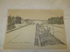 um 1939 Organisation Todt - Reichsautobahn in Mitteldeutschland  / 400 m ....
