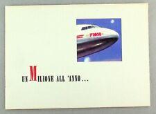 TWA TRANS WORLD AIRLINES BROCHURE LOCKHEED CONSTELLATION & SKYMASTER SEAT MAPS
