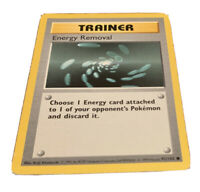Energy Removal 92/102 1st Ed First Edition Shadowless Base Set Pokemon Card