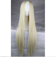 Womens Long Straight Hair Full Wig Heat Resistant Cosplay Wig No bangs+Wig Cap