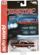 Christine 1958 Plymouth Fury Silver Screen Machines Ultra Red Chase Auto World