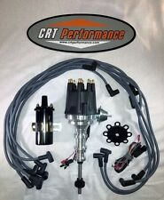 FORD Y-Block 256-272-292-312 BLACK Small HEI Distributor + 45K Coil + 8MM Wires