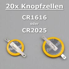 🔋 20x CR2025 & CR1616 3V Ersatz Batterie Lötfahnen Speicher Spielstand GameBoy