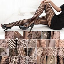 Collant ricamati di pizzo calze a rete righe intrecciati sexy eleganti