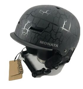 Monata  Snow Sport Helmet Model #W-206 Black Crackle -  Size L -  Ski Snowboard