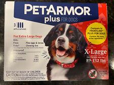 Petarmor Plus Flea & Tick Squeeze-On Dog 89-132 lbs, Xl. 3 Pack, New