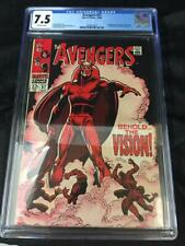 MARVEL AVENGERS #57(1968)! CGC 7.5! 1ST APP OF VISION! OFF WHITE PAGES