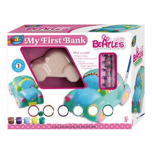 Kids Create Craft Kits,Car Bank Ceramic Painting Kit, DIY Crafts for kids