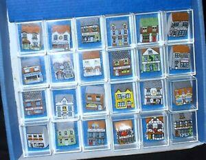 Set of 24 Birchcroft MINIATURE HOUSE Thimbles in Original Box
