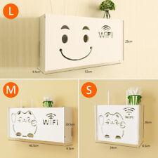 Wireless Wifi Router Storage Box Wall Mount Bracket Hanging Shelf Wood-Plastic !