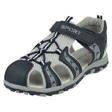 Sandales gris avec attache auto-agrippant pour garçon de 2 à 16 ans