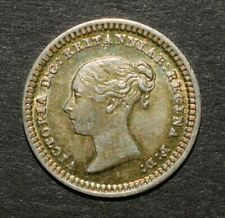 More details for victoria 1843 three half pence. toned