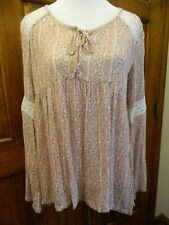 ~New With Tags~Hollister Peasant Womans Blouse Shirt Top Size M Long Sleeve