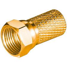 2x F-Stecker 7 mm vergoldet F Stecker High Quality Sat Stecker Stückpreis 0,99€
