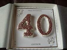 Handmade Personalised 40th, Birthday Card