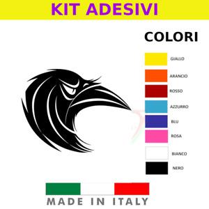 ADESIVO CORVO CROW STILE VARI COLORI STICKER RESISTENTE ACQUA VINILE PVC ADESIVO