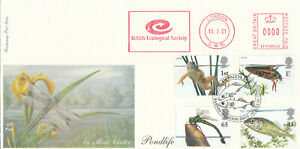 (88065) GB Fourpenny FDC Pond Life METER British Ecological Society Barnes 2001
