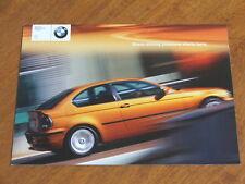 2001 BMW 3 Series Compact original Australian market 12 page brochure