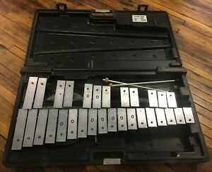 Musser 30 Key Student Xylophone with Plastic Hard Case, Practice Pad & Mallets
