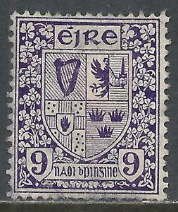 IRELAND SCOTT 74 USED FINE - 1922 9p VIOLET ISSUE  CAT $25.00