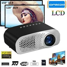 Mini Portable LCD LED Multimedia Video Projector HD 1080P USB HDM AV VGA SD M4G0