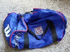 Vtg / Wilson / Club Wilson / Blue w/ Red / Duffel Bag w/ Black Strap