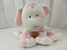"Kids Preferred 10"" White Pink Polka Puppy Dog Stuffed Plush Asthma Friendly"