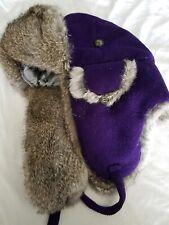 Mad Bomber Women's Medium Real Rabbit Fur Winter Hat