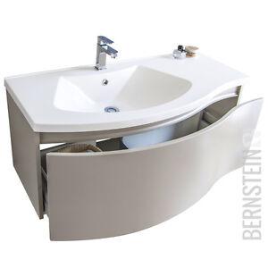 BERNSTEIN Badmöbel Set 100cm Waschbecken Unterschrank LED Spiegel optional