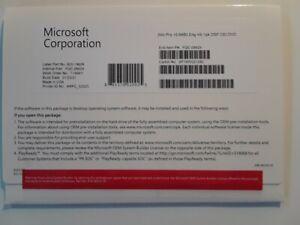 Microsoft FQC-08929 Windows 10 Professional OS 64bit Eng License Key + DVD NEW