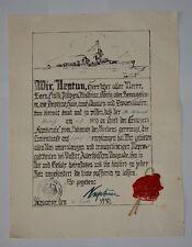 KREUZER KARLSRUHE - Taufschein, Äquatortaufe, Taufurkunde, Linientaufe, 1930
