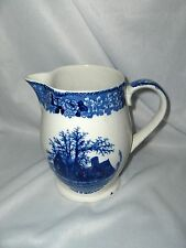 Vintage W. Adams House Of 7 Gables Pitcher Blue & White England